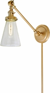JVI Designs 1255-10-S10 Soho Barclay Modern Satin Brass Swing Arm Wall Lamp
