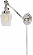 JVI Designs 1255-15-S9 Soho Liberty Contemporary Polished Nickel Wall Swing Arm Light