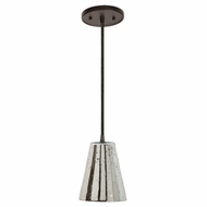 JVI Designs 1300-08-G2-AM Grand Central Oil Rubbed Bronze Finish 7.5  Wide Mini Pendant Hanging Light