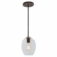 JVI Designs 1300-08-G3 Grand Central Oil Rubbed Bronze Finish 8.75  Tall Mini Hanging Light Fixture