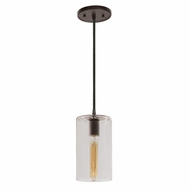 JVI Designs 1300-08-G5 Grand Central Oil Rubbed Bronze Finish 5  Wide Mini Drop Lighting