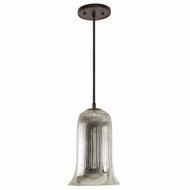JVI Designs 1300-08-G7-SR Grand Central Oil Rubbed Bronze Finish 11  Tall Mini Ceiling Pendant Light