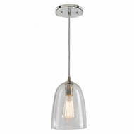 JVI Designs 1300-15-G4 Grand Central Polished Nickel Finish 6  Wide Mini Drop Ceiling Light Fixture