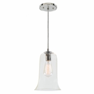 JVI Designs 1300-15-G7 Grand Central Polished Nickel Finish 7  Wide Mini Pendant Lighting