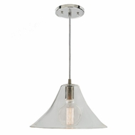 JVI Designs 1300-15-G8 Grand Central Polished Nickel Finish 7.5  Tall Mini Pendant Light