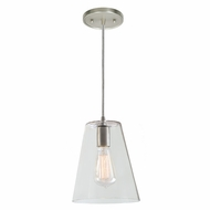 JVI Designs 1300-17-G2 Grand Central Pewter Finish 7.5  Wide Mini Pendant Light Fixture