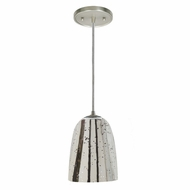 JVI Designs 1300-17-G4-AM Grand Central Pewter Finish 9  Tall Mini Pendant Lighting Fixture