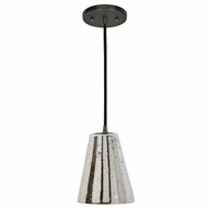 JVI Designs 1300-18-G1-AM Grand Central Gun Metal Finish 6  Wide Mini Hanging Pendant Lighting