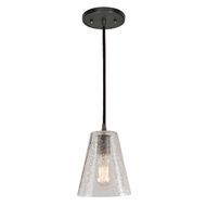 JVI Designs 1300-18-G1-CK Grand Central Gun Metal Finish 8  Tall Mini Hanging Pendant Light
