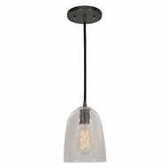JVI Designs 1300-18-G4-CK Grand Central Gun Metal Finish 9  Tall Mini Hanging Light Fixture