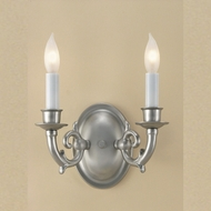 JVI Designs 220 2 Candle 8 Inch Wide Wall Light Fixture With Finish Options