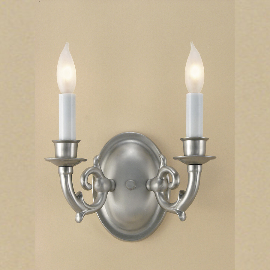 JVI Designs 220 2 Candle 8 Inch Wide Wall Light Fixture With Finish Options - JVI-220