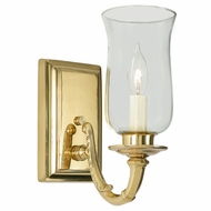 JVI Designs 270-01 Traditional Polished Brass Finish 8.25  Tall Wall Sconce