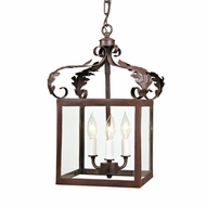 JVI Designs 3011 Small Traditional 3 Candle 18 Inch Tall Pendant Light Fixture With Finish Options
