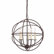 JVI Designs 3032 Large 18 Inch Diameter 5 Candle Modern Hanging Chandelier