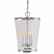 JVI Designs 3050-15 Charleston Polished Nickel Finish 13  Wide Ceiling Light Pendant