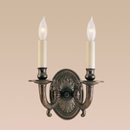 JVI Designs 308 Wall Mounted 9 Inch Tall 2 Candle Traditional Sconce Lighting