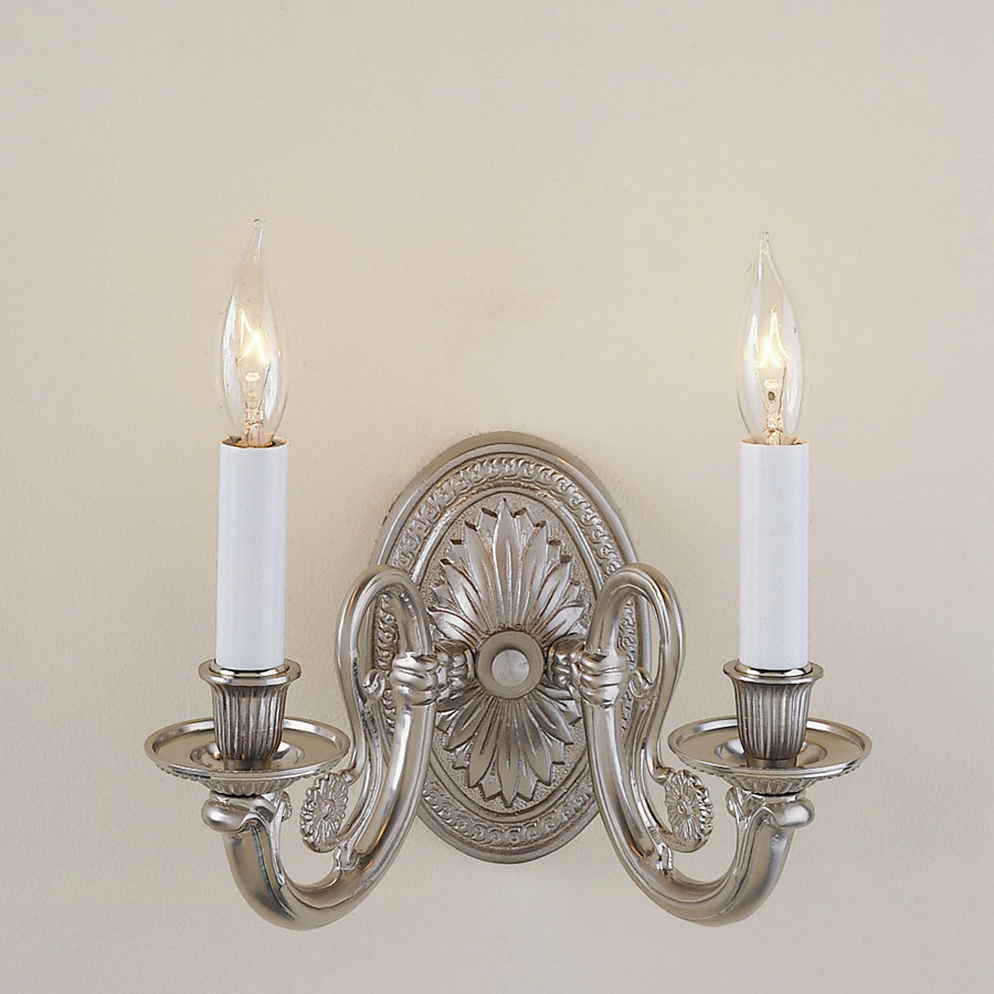 Wall Mounted Candle Lamps : JVI Designs 318 Traditional Style 2 Candle Wall Mounted Sconce Lighting - JVI-318