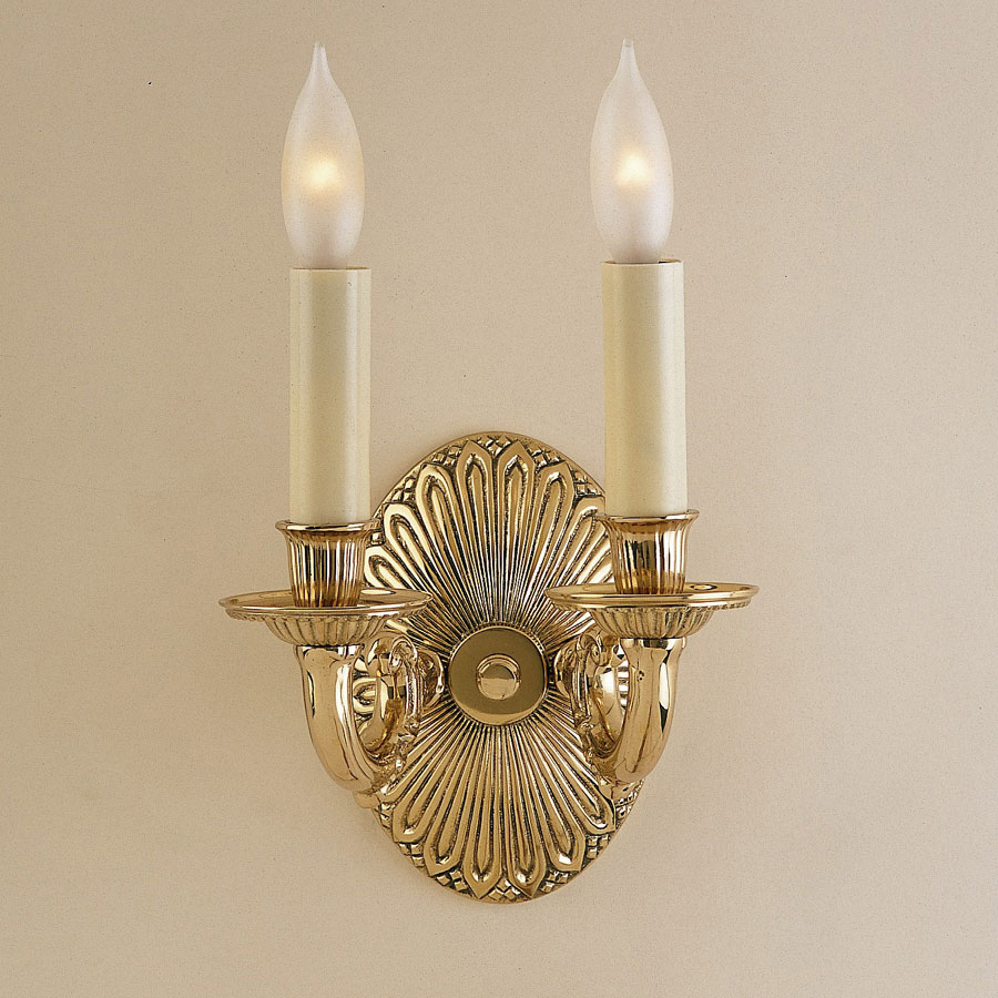 Traditional Wall Sconces With Candles : JVI Designs 332 8 Inch Tall Traditional 2 Candle Wall Sconce Light - JVI-332