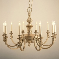 JVI Designs 570 Traditional 32 Inch Diameter 10 Candle Antique Brass Chandelier