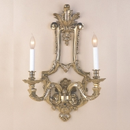 JVI Designs 623-05 Antique Brass 2 Candle 15 Inch Tall Wall Lighting Sconce