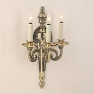 JVI Designs 666 3 Candle Antique Brass Traditional Lamp Sconce