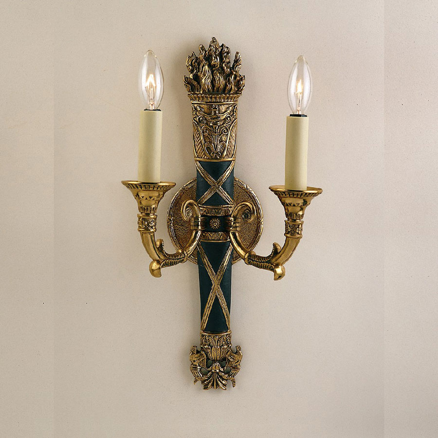 JVI Designs 668 17 Inch Tall 2 Candle Traditional Wall Sconce Lighting - JVI-668-05