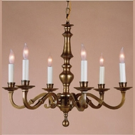 JVI Designs 906 Transitional Style 6 Lamp 23 Inch Diameter Hanging Chandelier