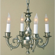 JVI Designs 914 Mini Transitional 4 Candle Chandelier Lighting