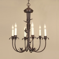 JVI Designs 930 Transitional 6 Candle 20 Inch Diameter Mini Chandelier Light