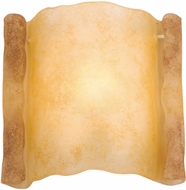 Kalco 2308 Parchment Scroll Old World Black Wall Sconce