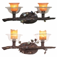 Kalco 2512 Cottonwood Rustic Halogen 2-Light Lighting For Bathroom
