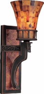 Kalco 2595 Marlowe Rustic Antique Copper Lamp Sconce