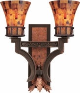 Kalco 2596 Marlowe Country Antique Copper Wall Sconce Lighting