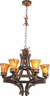 Kalco 2599 Marlowe Rustic Antique Copper Chandelier Light