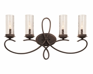 Kalco 2664 Grayson Heirloom Bronze 4-Light Bathroom Vanity Lighting