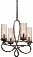 Kalco 2671 Grayson Heirloom Bronze Mini Chandelier Lamp