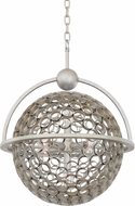 Kalco 2971 Marrero Contemporary Aged Silver Drop Ceiling Light Fixture