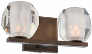Kalco 302832VBZ Regent Modern Vintage Bronze LED 2-Light Bathroom Lighting Fixture