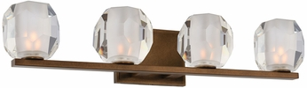 Kalco 302834VBZ Regent Modern Vintage Bronze LED 4-Light Bath Lighting Fixture