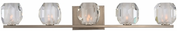 Kalco 302835SN Regent Contemporary Satin Nickel LED 5-Light Bathroom Light Fixture