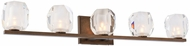 Kalco 302835VBZ Regent Modern Vintage Bronze LED 5-Light Bathroom Vanity Lighting