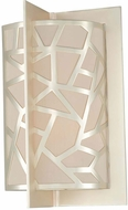 Kalco 303521RS Miramar Contemporary Rose Silver Wall Sconce