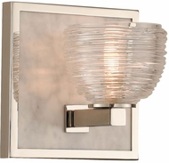 Kalco 304531PN Bianco Contemporary Polished Nickel LED Wall Sconce