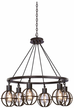 Kalco 305551TP Cape May Modern Tawny Port Chandelier Lighting