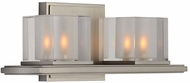 Kalco 306432SN Naples Modern Satin Nickel Xenon 2-Light Lighting For Bathroom