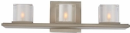 Kalco 306433SN Naples Modern Satin Nickel Xenon 3-Light Bathroom Light
