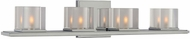 Kalco 306434CH Naples Contemporary Chrome Xenon 4-Light Bathroom Lighting Fixture