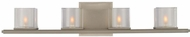 Kalco 306434SN Naples Modern Satin Nickel Xenon 4-Light Vanity Lighting