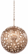 Kalco 306912AF Belladonna Modern Antique Silver Leaf 18  Pendant Lighting Fixture